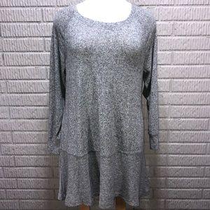 Charlie Paige Grey Sweater Dress/Tunic  Size XL